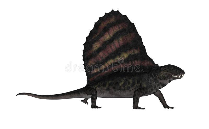 Dinossauro de Dimetrodon - 3D rendem ilustração royalty free