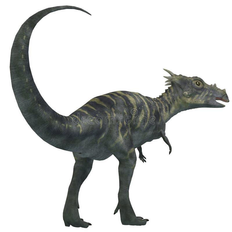 Dinossauro de Dracorex no branco ilustração stock