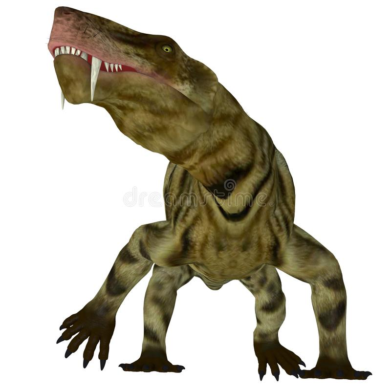 Dinossauro de Inostrancevia no branco ilustração do vetor