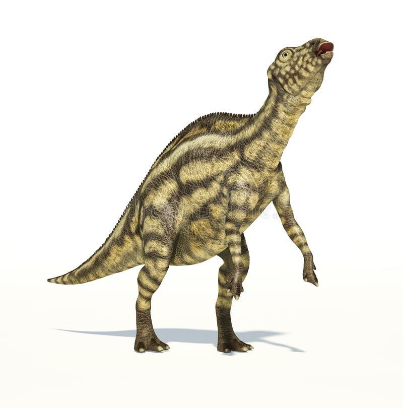 Dinossauro de Maiasaura, jovem criança, representação photorealistic. ilustração royalty free