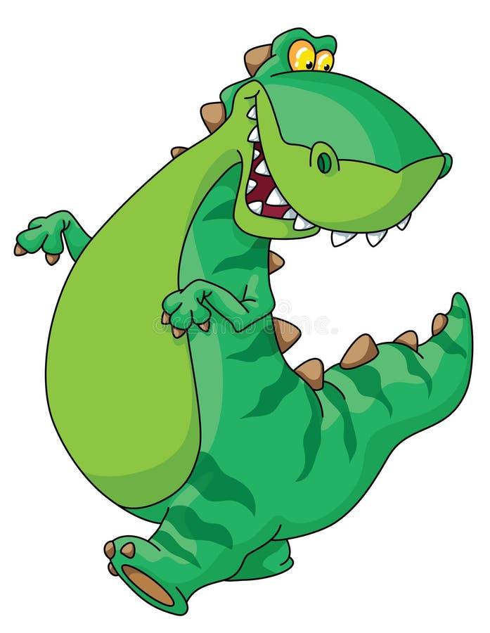 Dinossauro de passeio ilustração do vetor