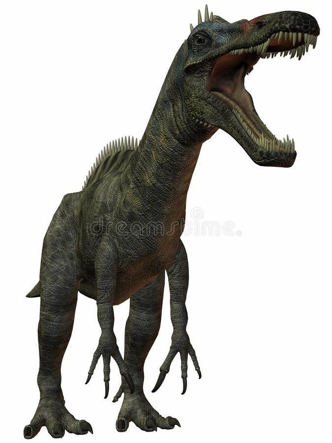 Dinossauro de Suchomimus Tenerensis-3D ilustração royalty free