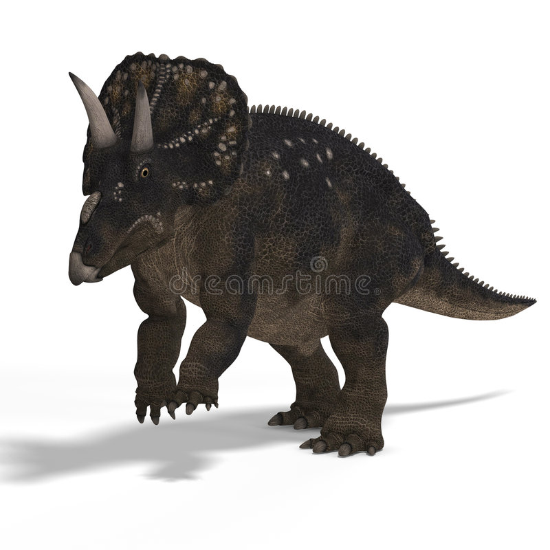 Dinossauro Diceratops ilustração royalty free