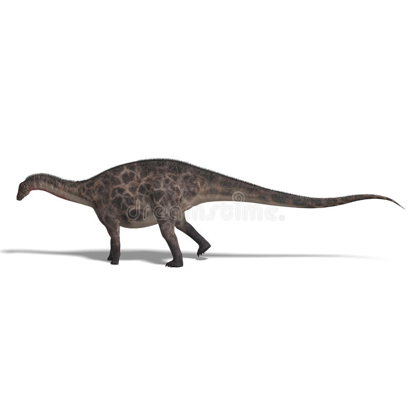 Dinossauro Dicraeosaurus ilustração royalty free