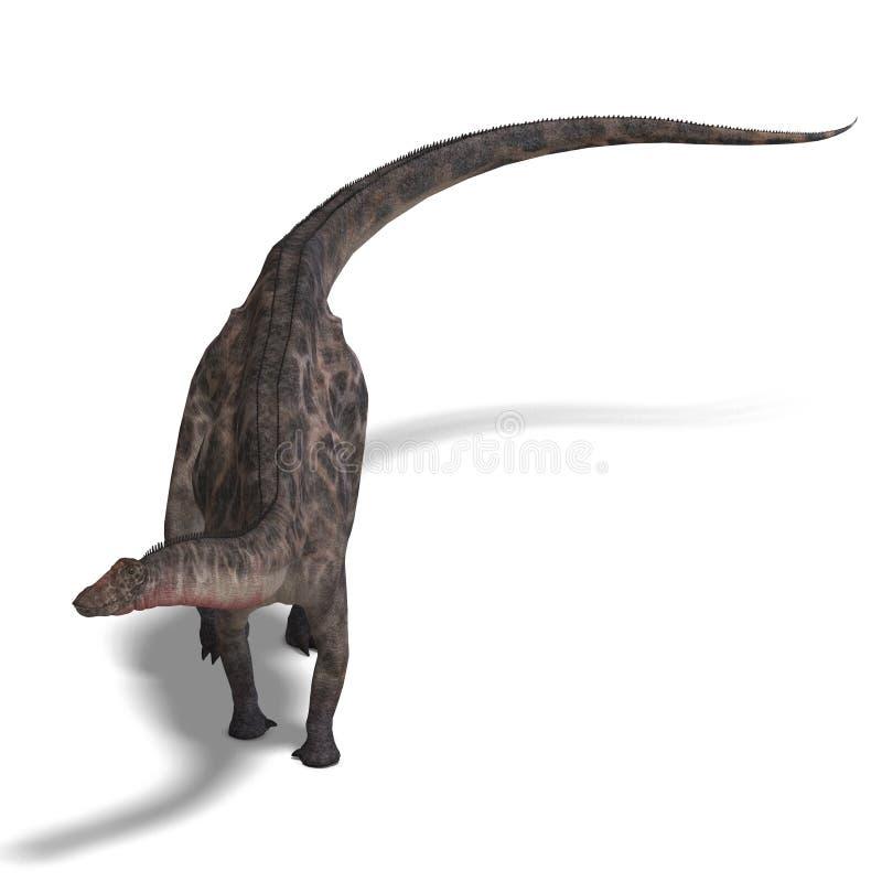 Dinossauro Dicraeosaurus ilustração stock