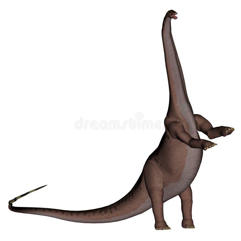 Dinossauro do Apatosaurus que levanta-se - 3D rendem ilustração stock