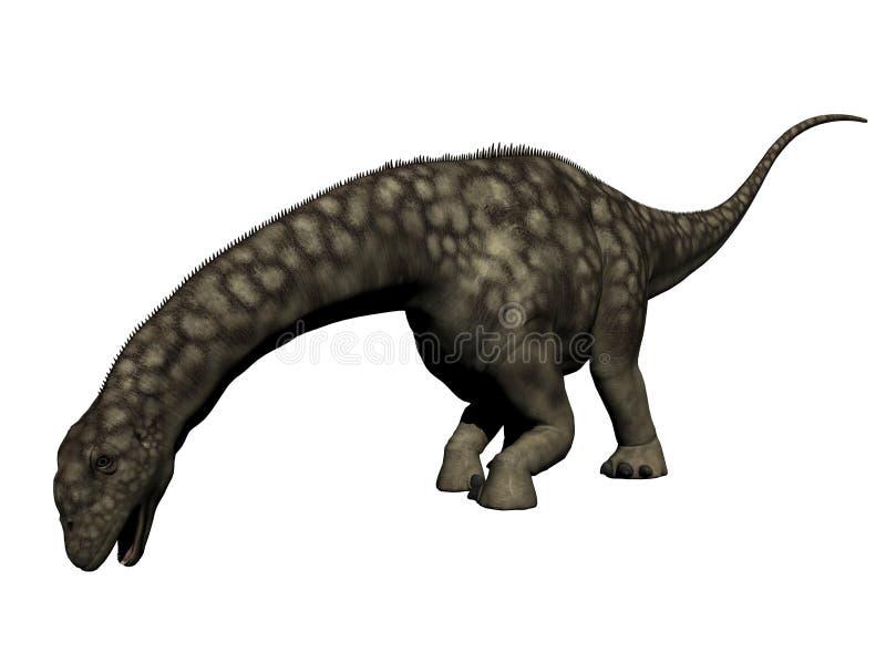 Dinossauro do Argentinosaurus - 3D rendem ilustração do vetor