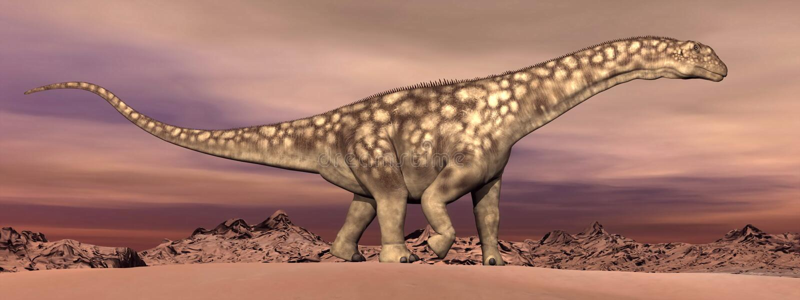 Dinossauro do Argentinosaurus que anda - 3D rendem ilustração royalty free
