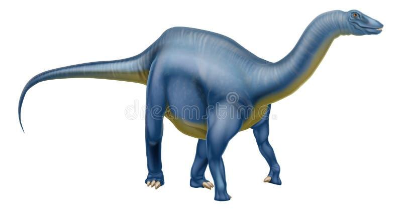 Dinossauro do Diplodocus ilustração do vetor