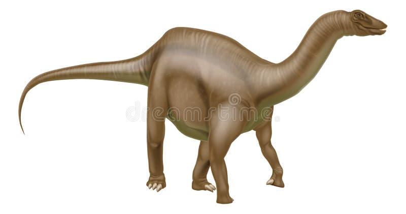 Dinossauro do Diplodocus ilustração royalty free
