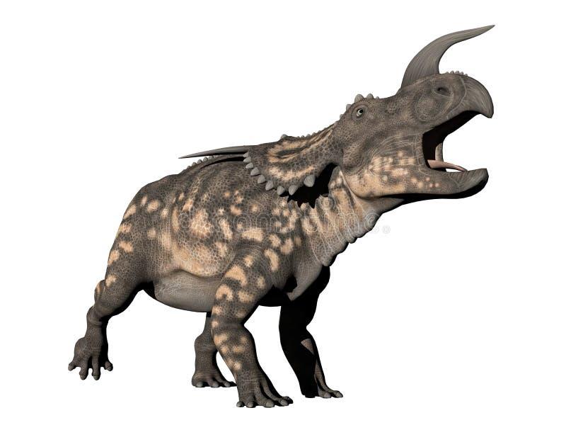Dinossauro do Einiosaurus - 3D rendem ilustração stock