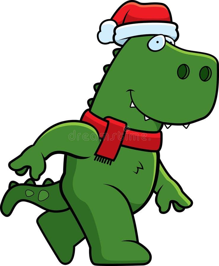 Dinossauro do Natal dos desenhos animados ilustração royalty free