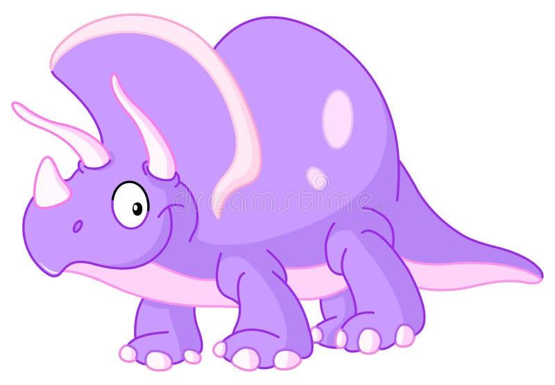 Dinossauro do Triceratops ilustração do vetor