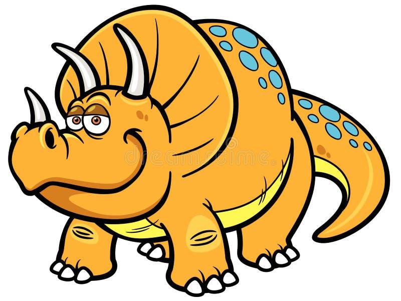 Dinossauro dos desenhos animados ilustração do vetor