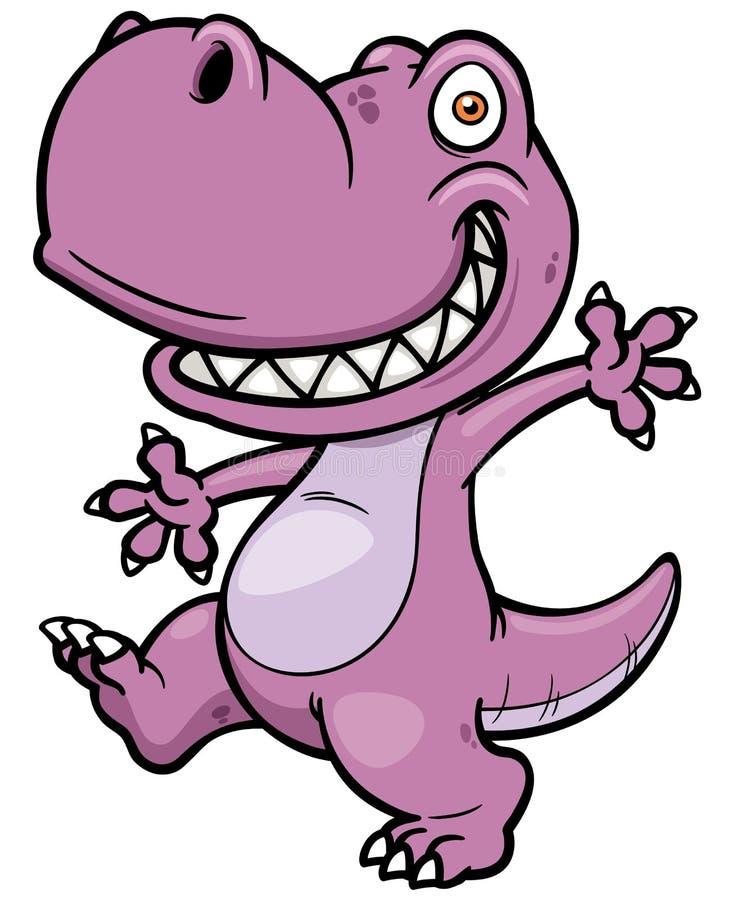 Dinossauro dos desenhos animados ilustração stock