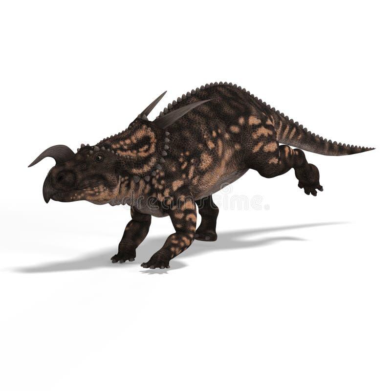 Dinossauro Einiosaurus ilustração do vetor