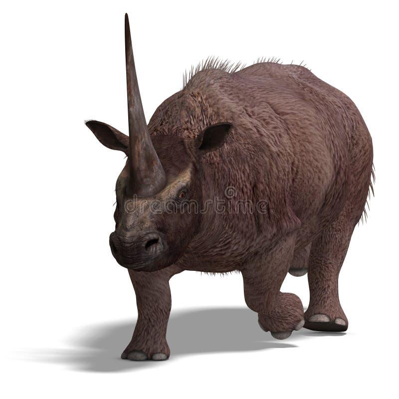 Dinossauro Elasmotherium ilustração do vetor