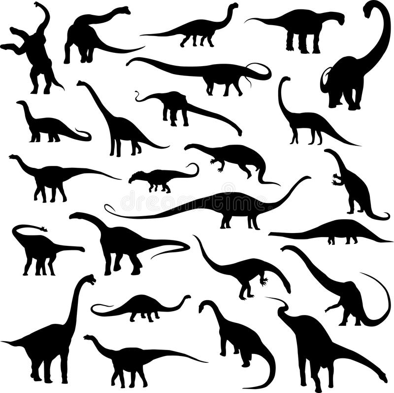 Dinossauro herbívoro ilustração royalty free
