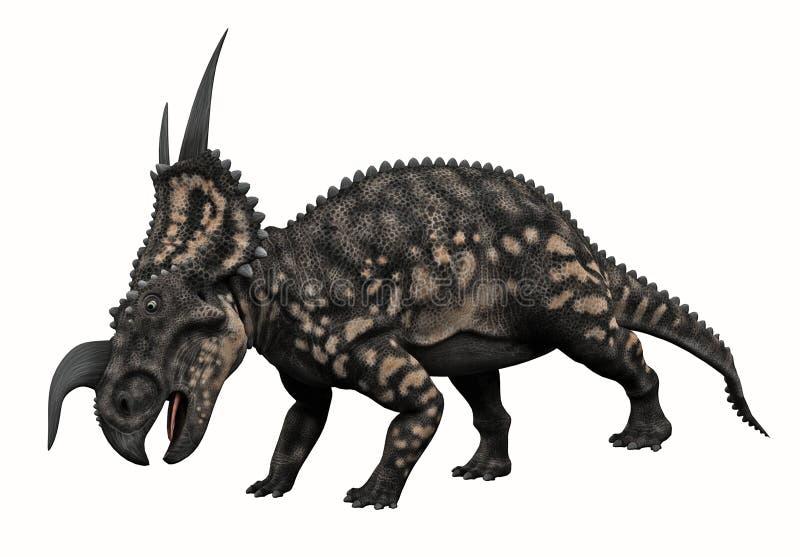 Dinossauro Horned ilustração royalty free
