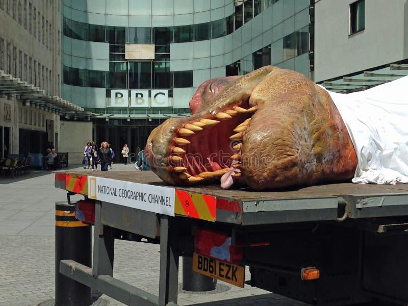 Dinossauro inoperante na BBC imagens de stock royalty free
