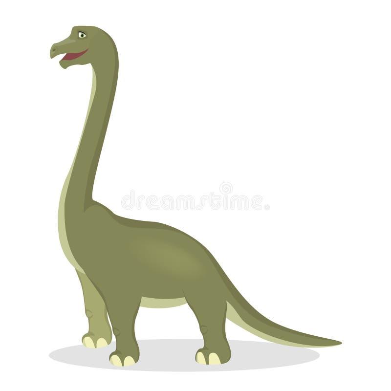 Dinossauro isolado Brontosaurus ilustração royalty free