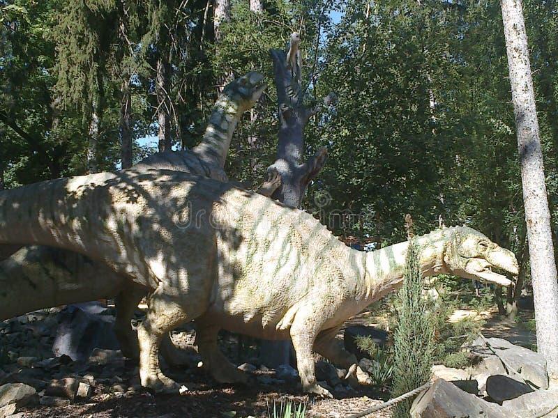 Dinossauro no dinopark fotografia de stock