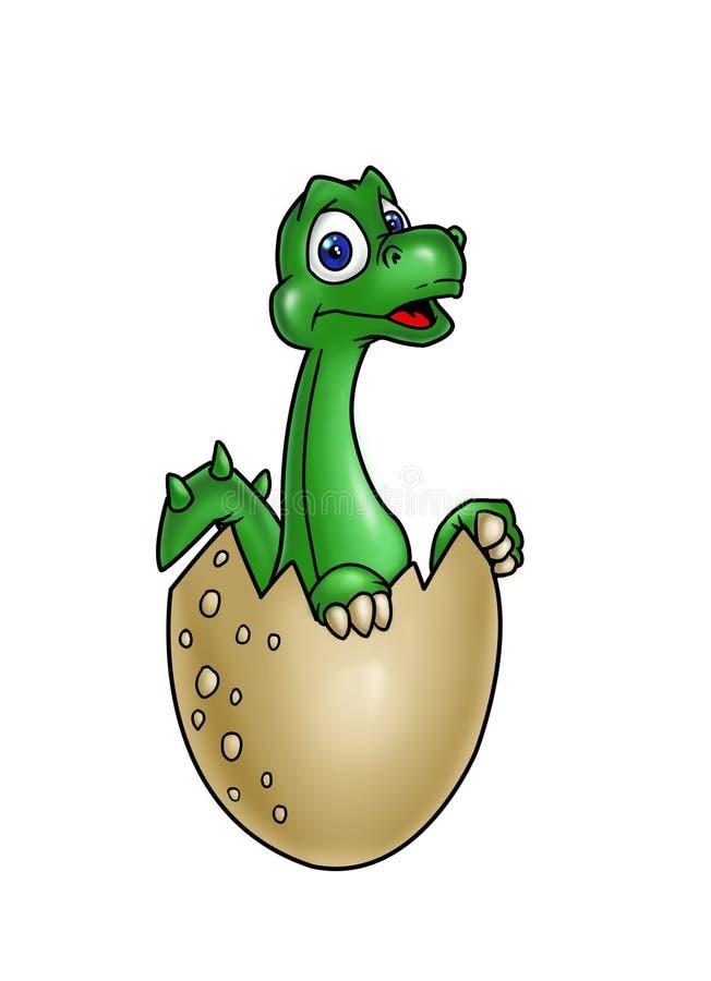 Dinossauro recém-nascido ilustração royalty free