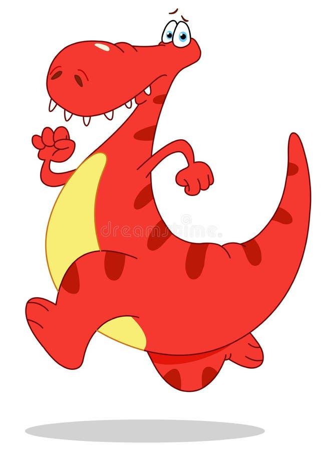 Dinossauro Running ilustração do vetor