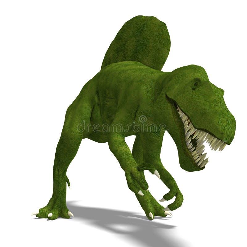 Dinossauro Spinosaurus ilustração stock