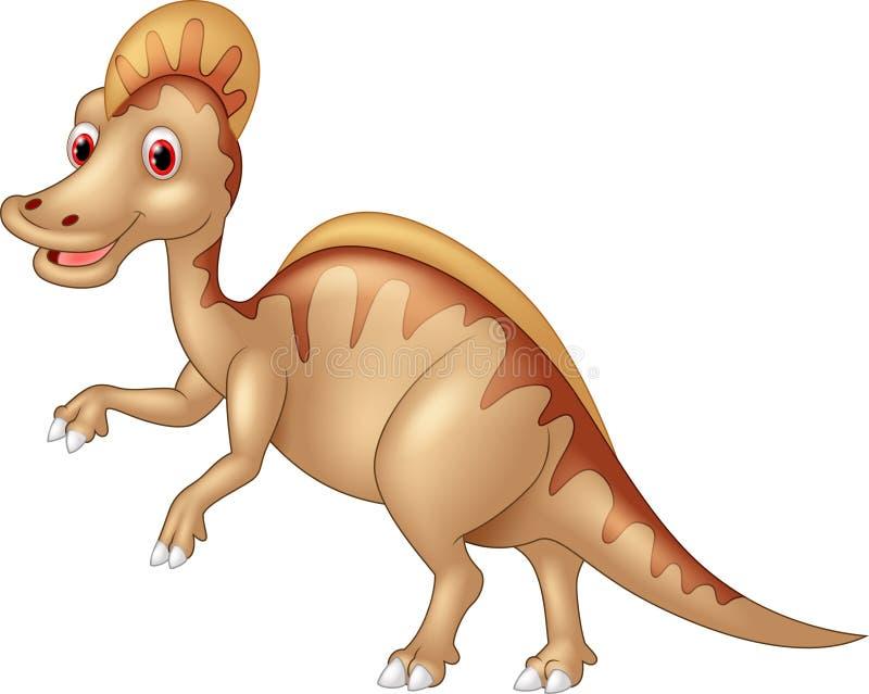 Dinossauro Spinosaurus ou lagarto espinhoso isolado no fundo branco ilustração do vetor
