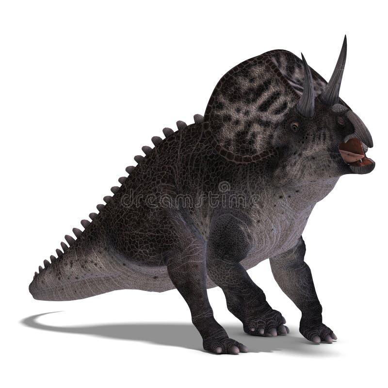 Dinossauro Zuniceratops ilustração royalty free