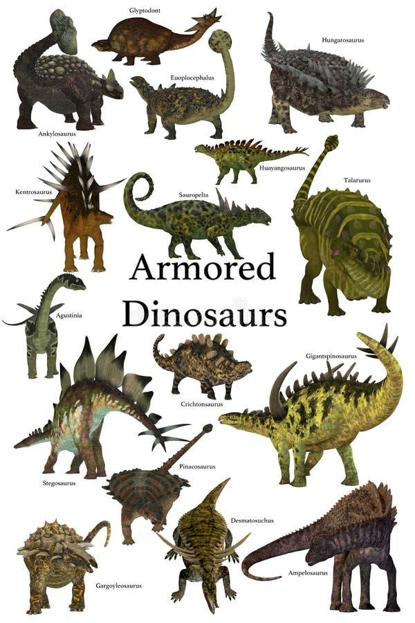 Dinossauros blindados ilustração stock