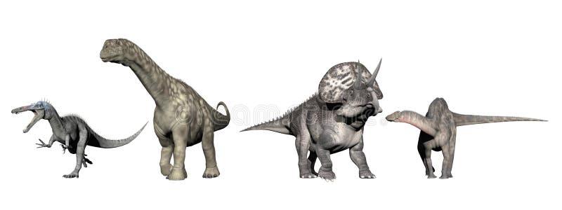 Dinossauros - 3D rendem ilustração royalty free
