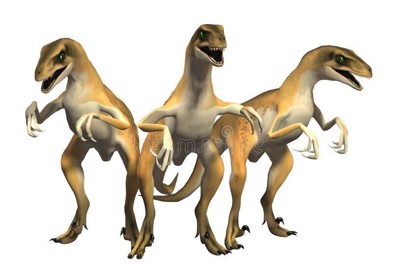 Dinossauros das aves de rapina de Jurassic Park dos Velociraptors ilustração stock