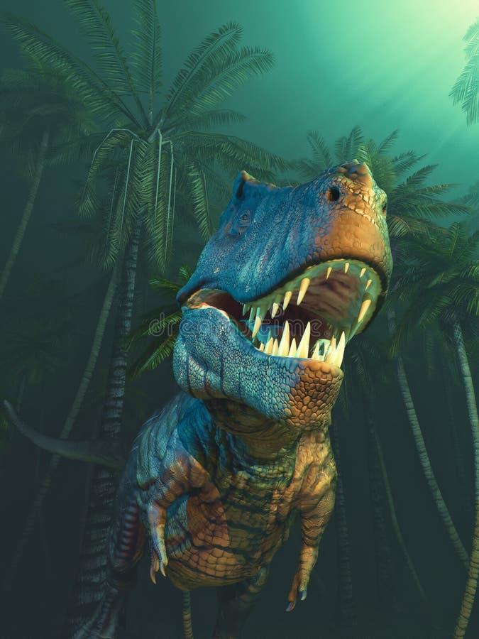 Dinossauros de Dino com grandes colmilhos ilustração stock