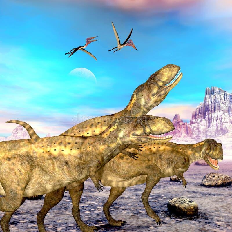 Dinossauros do Abelisaurus ilustração stock