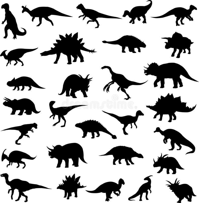 Dinossauros herbívoros ilustração do vetor