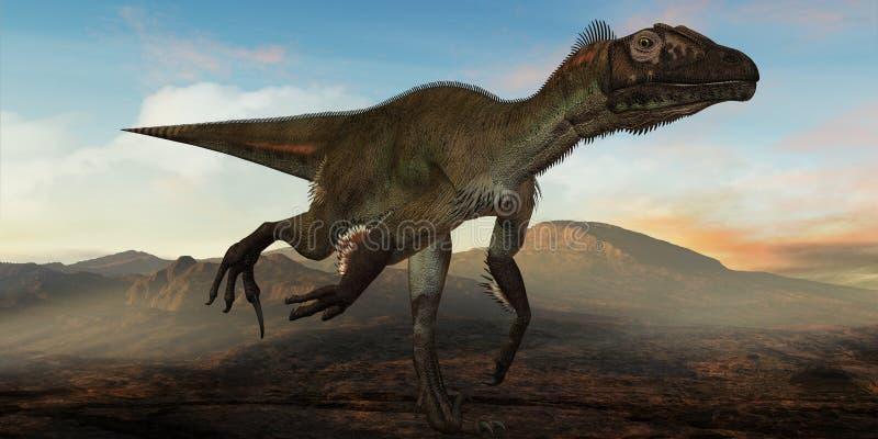 dinozaur ostrommayorum utahraptor 3 d royalty ilustracja
