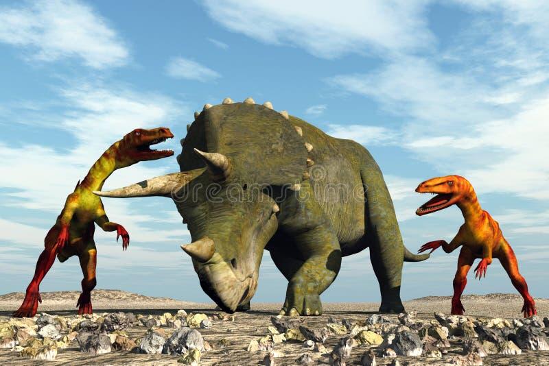dinozaury wygłodniały ilustracja wektor