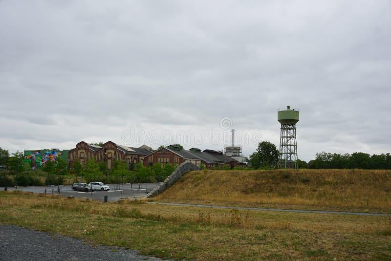 DINSLAKEN, Allemagne - 15/07/2019 : Héritage industriel à images libres de droits