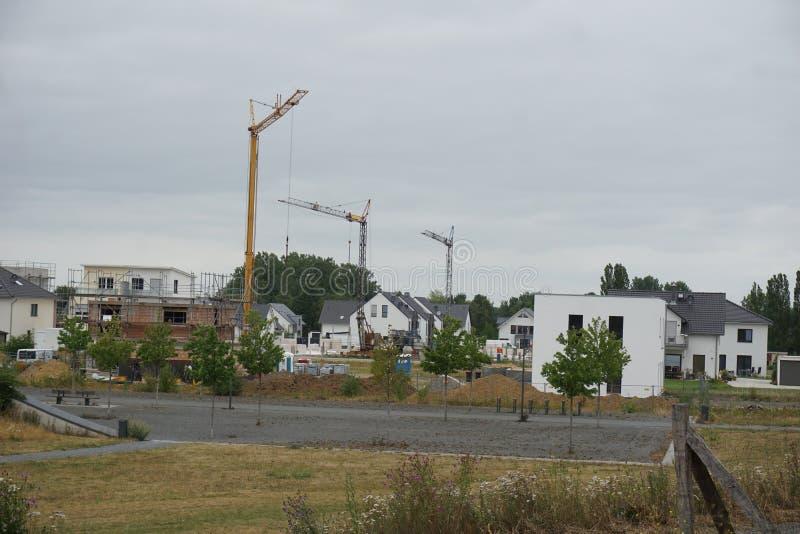 DINSLAKEN, Allemagne - 15/07/2019 : Région de construction près photographie stock libre de droits
