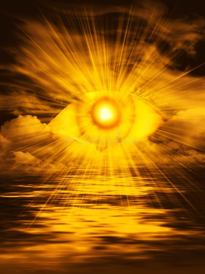 Dio è dappertutto, l'occhio del signore illustrazione vettoriale