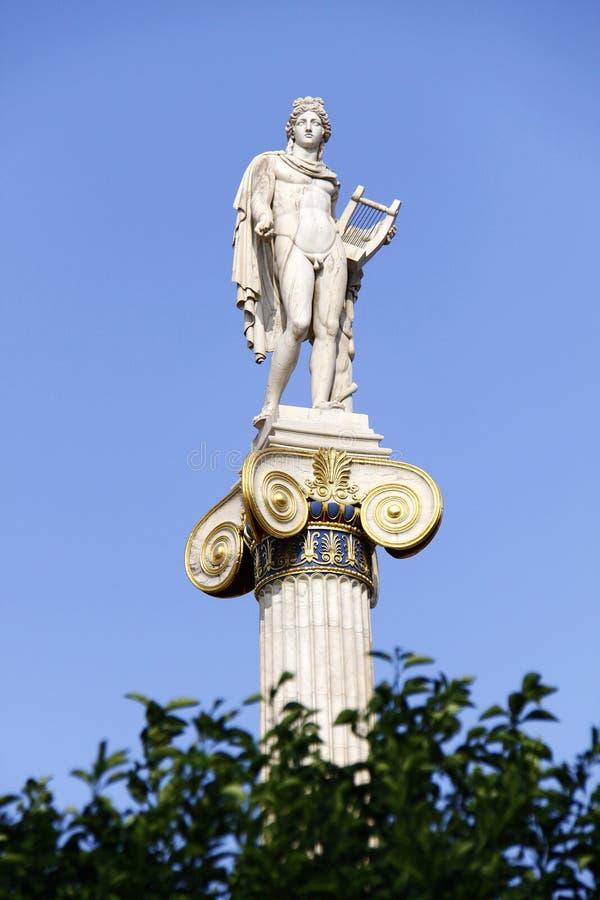 Dio antico greco Apollo fotografia stock