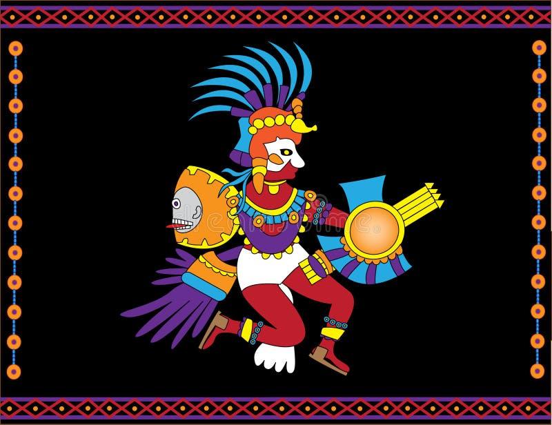Dio azteco illustrazione di stock