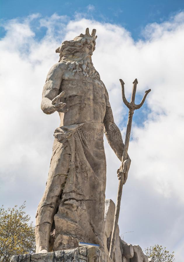 Dio dei mari Poseidon Nettuno immagini stock libere da diritti