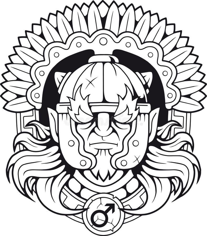 Dio della guerra greco Ares illustrazione di stock