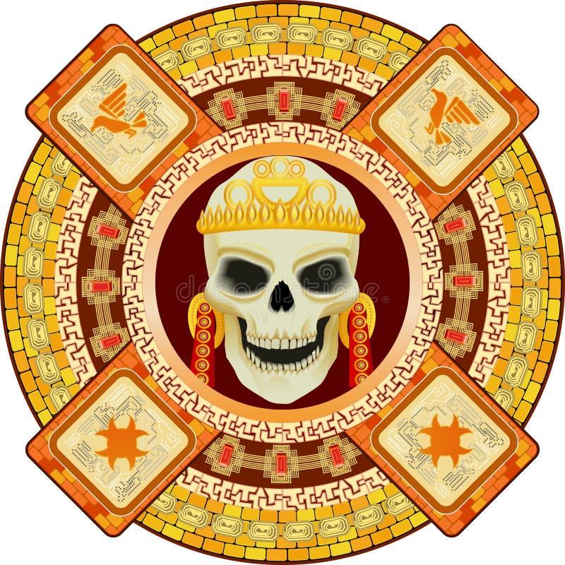 Dio della morte degli Aztechi illustrazione vettoriale