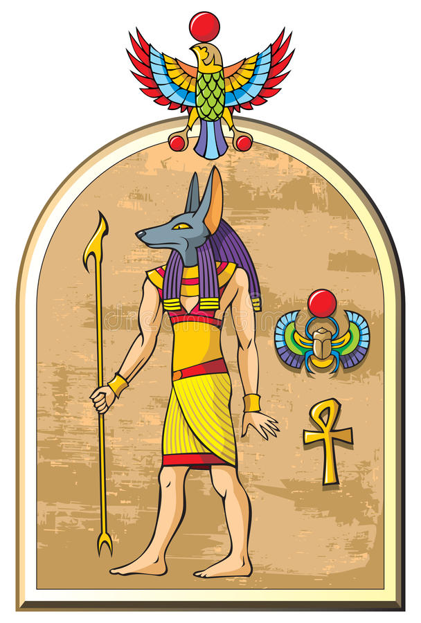 Dio egiziano Anubis royalty illustrazione gratis