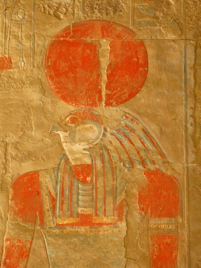 Dio Horus al tempiale della regina Hatshepsut, Luxor fotografia stock libera da diritti