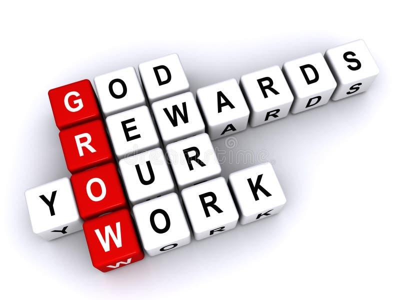 Dio ricompensa il vostro lavoro illustrazione vettoriale